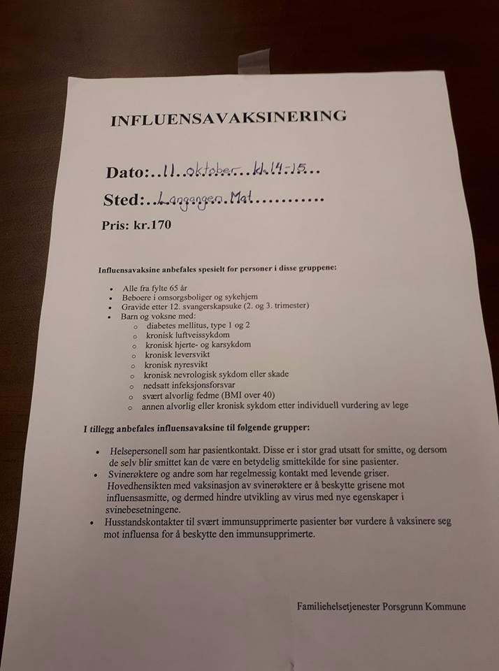 Influensa?